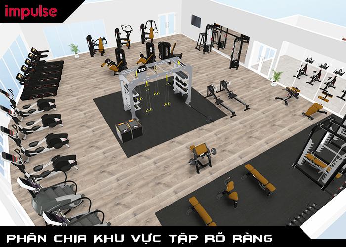 thiết kế phòng gym đẹp