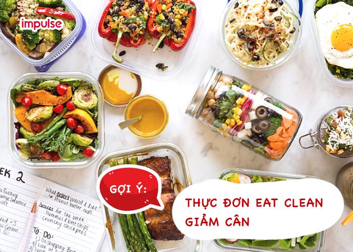 thực đơn eat clean giảm cân