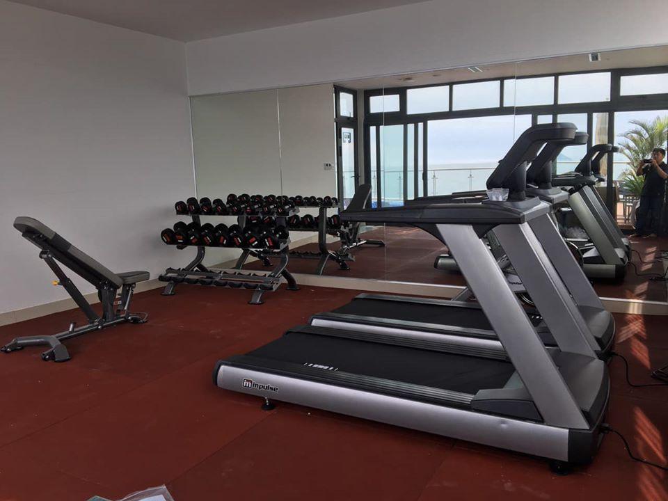 dự án setup phòng gym navada hotel