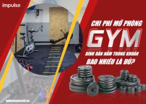 chi phí mở phòng gym
