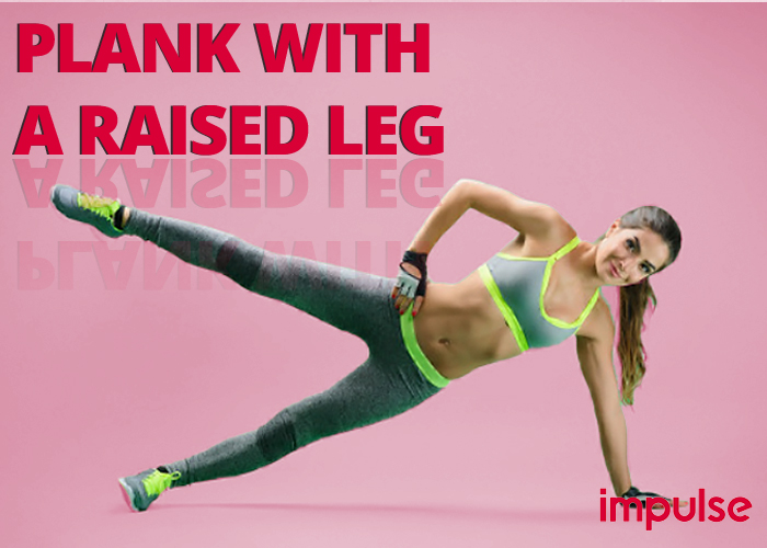 plank with a raised leg