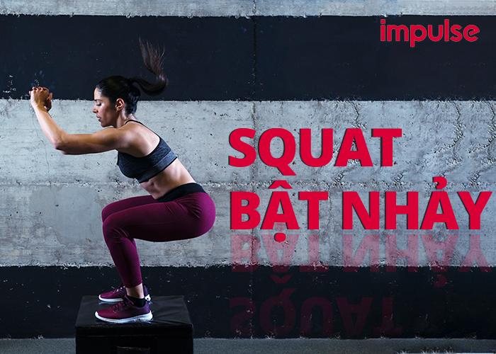 squat bật nhảy