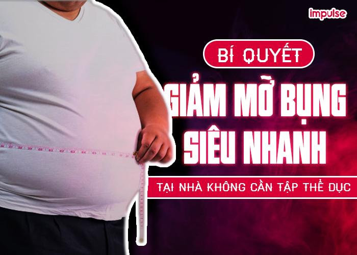 cách giảm mỡ bụng tại nhà nhanh nhất
